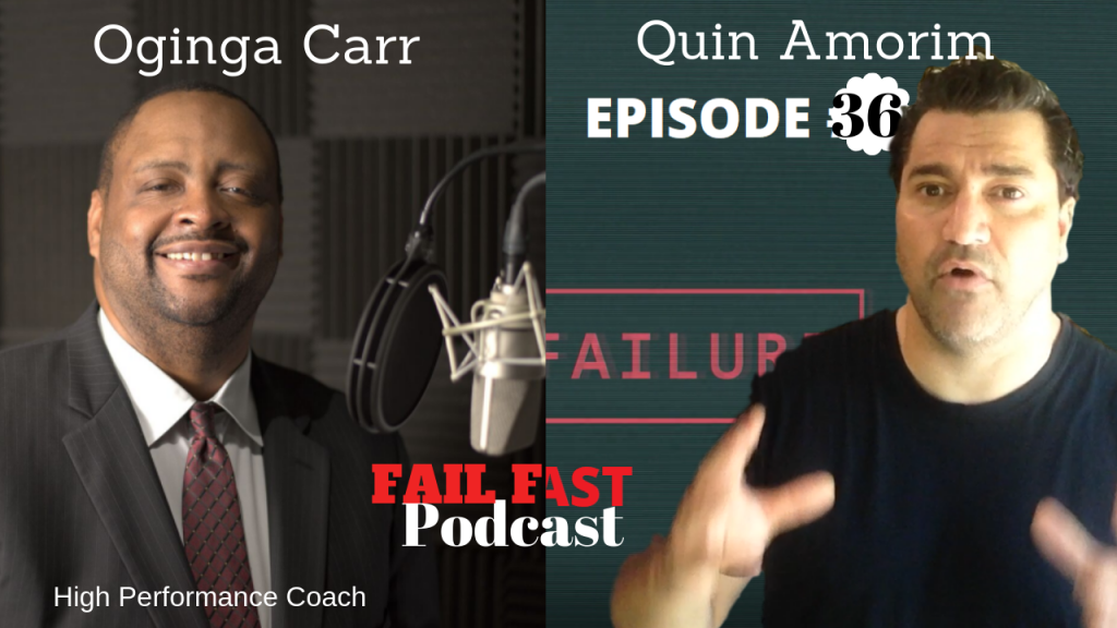 Oginga Carr at the Fail Fast Podcast